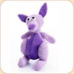 One Checked Mini Purple Kangaroo
