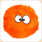One Ball o' Orange Fur--2 sizes