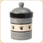 "Black Paws 9.5"" Treat Jar"