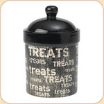 "Graphic Distress 9.5"" Treat Jar"