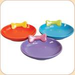 Tiny Bone Ceramic Saucer--3 colors