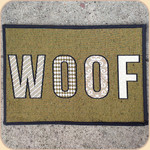 Woven WOOF Placemat--non skid