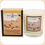 Pawprints in the Sand--Soy Remembrance Candle