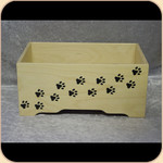 Wooden Toy Box Paws