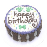 Boxed Happy Birthday Cake--white & carob