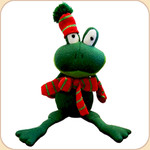 Nattily-Attired Crinkle Frog--Green