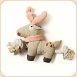 One Rope Canvas Reindeer Toy