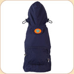 Hooded Raincoat in Blue--Pocket