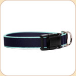 Eco-Friendly Collar--navy & turquoise