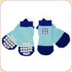 EB Non-Slip Socks in Blue--x4