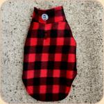 Reversible Fleece Coat--Buffalo Plaid