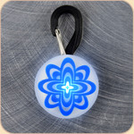 LED Collar Light--blue atomic flower
