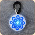 LED Collar Light--blue atomic flower