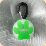 LED Collar Light--green paw