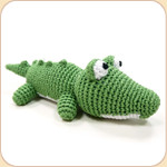Crocheted Green Gator