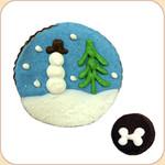 Bagged Snow Globe Cookie & a Bite!