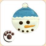 Bagged Snowman Cookie & a Bite!
