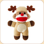 Reindeer Baby Sock Monkey