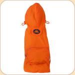 Hooded Raincoat in Orange--Pocket