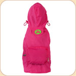 Hooded Raincoat in Hot Pink--Pocket