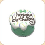 "Boxed Birthday Party ""Baby"" Cake in Green"