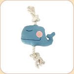 One Rope Canvas Blue Whale Toy