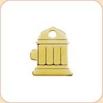 Flat Brass Fire Hydrant