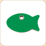 Flat Plastic Fish  10 Color Options