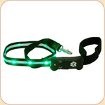 LED Illuminated Leash in Black