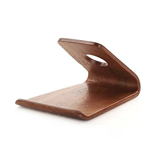 Samdi Smartphone Holder New Design Wooden Phone Stand For Smart Phones Ipad Mini S Walnut Color