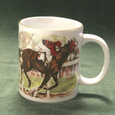 Race Horse- Mug Gold Band