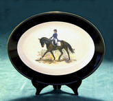 """Dressage Test""  Oval Serving Platter"