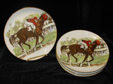 Race Horse- Coupe Plate-Set of 4