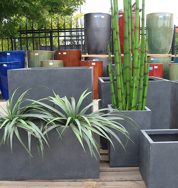 Sq and Rectangular Fiberglass Outdoor Planters