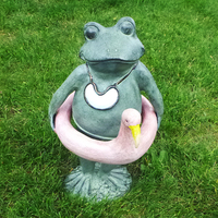 Outdoor Frog with Flamingo Tube