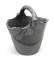 Small Black Bucket Vase