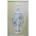 Blue Print Vase Linen Noren