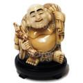 Ox Bone Smiley Buddha w Bag