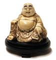 Ox Bone Sitting Smiley Buddha
