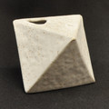 White Sand Prism Bud Vase