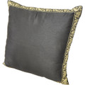 22in Tai Silk Black Pillow