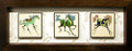 Right 3 Horses Ceramic Tile Frame