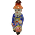 Blue Little Emperor Snuff Bottle