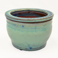 "6"" Rd Self Water Pot Ocean Blue"