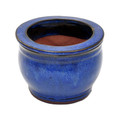 "5"" Rd Self Water Pot Falling Blue"