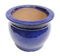 "8"" Rd Self Water Pot Falling Blue"