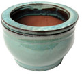 "5"" Rd Self Water Pot Ocean Blue"