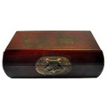 Leather Memory Box Red