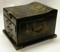 Leather Large Jewelry Box Black