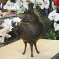 Bronze Fu Dog Incense Burner